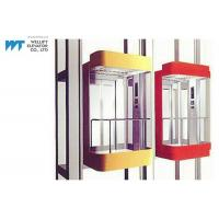 Cheap Most Stops 36 Panoramic Glass Elevator With Permanent Magnetic VVVF Door Operator for sale