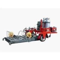 Asphalt road surface heating machine