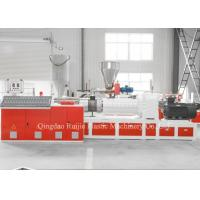 Cheap Double Screw Conical SPC Flooring Machine Five Rollers Temperature Control for sale