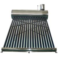 Cheap stainless steel unpressurized rooftop vacuum tube solar water heater for sale