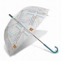 Cheap London 2012 Union Flag Clear Dome Umbrella, Made of Recycled Polyester for sale