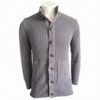Cheap Unisex Sweater, Gray, Fashionable, Made of 100% Cotton, Men's Casual Wear, Women Casual Knitted Wear for sale