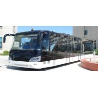 Cheap 14M length 3m width luxury airport shuttles 110 passenger standing area for sale