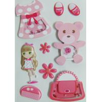 Buy cheap Paper + PVC Puffy cute girl Shaker Sticker for birthday gift eco-friendly from Wholesalers