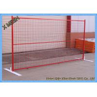 China Powder Coated Temporary Mesh Fencing Low Carbon Steel Wire 8FT X 10FT Mesh Panel on sale