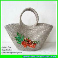 Cheap grey wheat straw hobo bags wholesale for sale