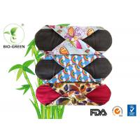 Cheap Colorful Bamboo Reusable Menstrual Pads , Gentle Soft Bamboo Pads Menstrual for sale