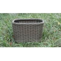 China Strong Plastic Rattan Storage Boxes , Brown Rattan Storage Case on sale