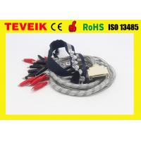 EEG cable, DIN1.5 socket, 1m , crocodile clip, with red cover