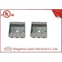 """Cheap 1/2"""" 3/4"""" Holes Waterproof Conduit Box Aluminum Die Casting UL Listed for sale"""