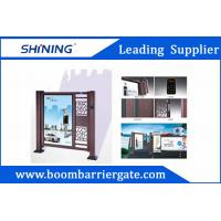 Cheap Entrance Automatic Swing Gate With LED Light For Apartment Entrance Advertising for sale