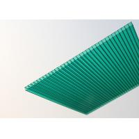 Cheap Soundproof Polycarbonate Patio Roof Panels , Green Plastic Roofing Sheets for sale