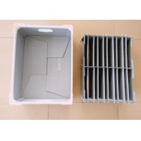 China Customized Corrugated Plastic Components Box With Plastic Divider on sale