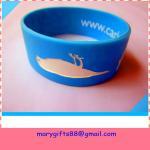 Cheap fat design segmented color rubber silicone wrist band for sale