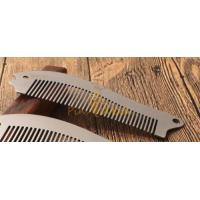 Cheap Fashion Salon Stainless Steel Hair Beard Comb for sale