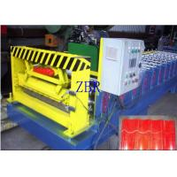 50Hz Glazed Tile Roll Forming Machine 9-11 Rows Rollers PLC Control System