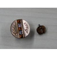 China Flat 3D Diamond Custom Clothing Buttons Metal In Gun Metal / Silver on sale