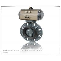 Cheap General DN50 PVC Pneumatic Butterfly Valve Wafer Connection With 8 Mounting Holes for sale