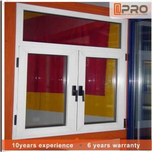 Cheap Horizontal Aluminium Frame Casement Window , Double Panel French Casement Windows for sale