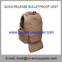 Cheap Wholesale Cheap China Army Tan Color  Quick-Release Police Bulletproof Vest for sale