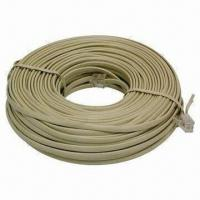 China 100ft Phone Extension Cord/Cable/Line Wire, Used for Answering Machines on sale