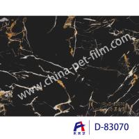 Cheap High Definition Printing Pvc Decorative Foil Black Marble Moth Proofing for sale