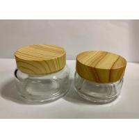 China Recycle Glass Cream Jars Packaging / Facial Scrub Luxury Cosmetic Containers / Cream Bottles on sale