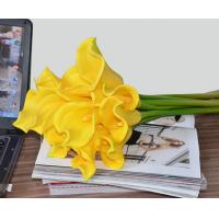 "China 14""real touch PU artificial flowers calla lily bundles 9 pieces/bundle on sale"