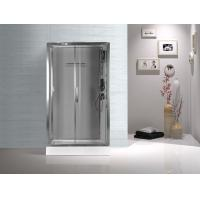 Cheap Tempered Glass Rectangular Shower Cabins , Sliding Door Shower Cubicles for sale
