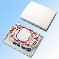 China FTTH Optical Fiber Distribution Box 4 Ports Lower Layer Splicing Easy Installation on sale