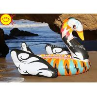 Cheap Portable Inflatable Water Floats 190cm Colorful Printed , Inflatable Swan Float For Party for sale