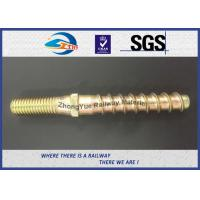 Hot Forging Railway Sleeper Screws Double End Special Track Bolt Customized