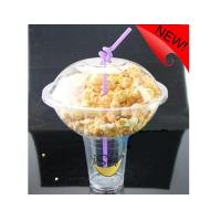 China 500ml Plastic Disposable Smoothie Cups For Milky Tea , Popcorn Bowl 1000ml on sale