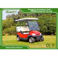 Buy cheap Red 48V Trojan Battery Electric Golf Car With Small Ice Box / Two Seater Golf Buggy from wholesalers