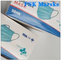 Cheap CE FDA 3 Ply Surgical Face Mask Disposable Mouth Mask Adjustable Nose Bridge for sale