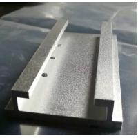 China Sandblasted Silver Anodized Aluminum Extrusion Parts with Machining Holes on sale