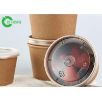 China 12oz Disposable take away double PE coated thick wall brown kraft paper bowls on sale