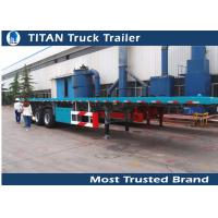 Cheap Multi axle 40ft flatbed iso container trailer / gooseneck flatbed trailer for sale