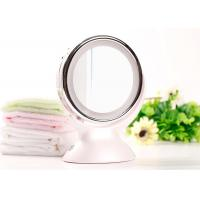 Cheap Double Side LED Makeup Mirror 360 Degree Rotating 5 Times Magnifying Battery Operated for sale