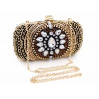 Cheap Vintage Retro Crystal Evening Clutch Bags Fashion Bead With Black Velvet for sale