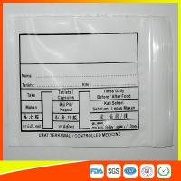 Cheap Custom Printed Plastic Medical Ziplock Bags Reclosable Waterproof Non Poisonous for sale