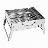 Cheap Portable BBQ Grill/Mini Portable Charcoal BBQ Grill, Made of Stainless Steel for sale