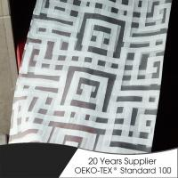 Buy cheap Polyester geometric burn out sheer high quality hotel shower curtain from wholesalers