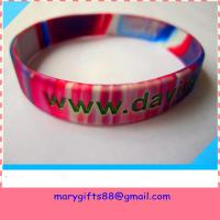 Cheap 1/2 inch swirl colors silicone bangles for sale