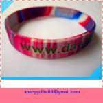 Cheap 1/2 inch swirl colors silicone bangles wholesale