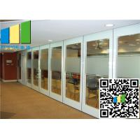 Cheap Hall 2.56 Inch Glass Office Movable Glazed Wall For Meeting Room for sale