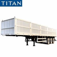 Cheap China 60 tons sidewall cargo semi trailer for sale in Mozambique for sale