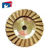Cheap 4 inch Cyclone Shape Diamond Cup Wheel with Wet Grinding for Concrete Floor for sale