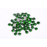 Cheap Green Color Lead Free Rhinestones Environmentally Friendly For T Shirt / Nail Art for sale