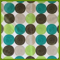 Cheap Printed ball designs table cloth made of 100% polyester woven fabric cloths for sale